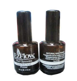 Wholesale Acrylic Nail Art Products - Wholesale- BTT-99 New 2Pc 14ML Ezflow Natural Nails Primer Nail Art Tool Products Acrylic Base Coat For UV GEL & Acrylic Tips