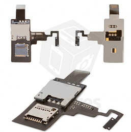 Wholesale T328e Desire X - Wholesale-SIM Card Connector for HTC T328e Desire X Cell Phone, (memory card connector, with flat cable, with ON OFF button)