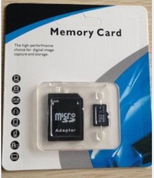 Wholesale Sd Card Blister Packaging - 128GB Micro SD Card TF Memory Card Class 10 Flash Micro SD SDHC Cards With Adapter Retail Packaging Blister Package