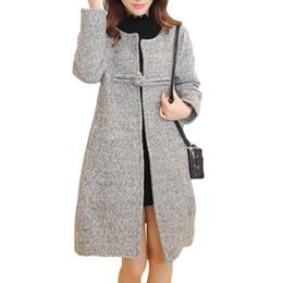 Canada Femmes Manteau Laine Poncho 2016 Hiver Nouvelle mode Épaisseur Solide Couleur Mince Élégant Gris Rose Surdimensionné Manteau Long De Noël Femme Offre