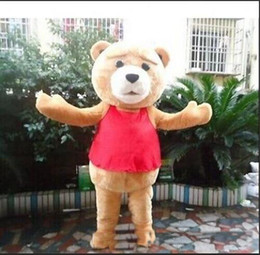 Wholesale Red Bear Mascot Costume - 2018 Hot sale Ted Teddy Bear Movie Cartoon Character Event Mascot Costume