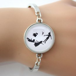 Wholesale Jewelry Gold For Man Price - Peter Pan Bracelet Tinkerbell Silhouette Jewelry New Fashion Summer Style Hot Bangle For Men Women also can be customed same price