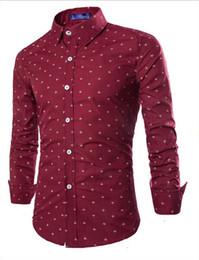 hommes casual chemise mens mode de haute qualité à manches longues chemises hommes Slim Casual photo conception stand col chemises à manches longues Livraison gratuite ? partir de fabricateur