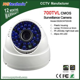 Wholesale Dome Camera System Sales - Free Shipping Best sale Cmos 700 TVL 48 LEDs security Camera CMOS IR Dome Night vision indoor CCTV Camera severillance system