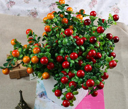Wholesale Imitation Fruit - Artificial fruits six branches riches and honour imitation fruit fake plant fancy home decorations free shipping DT004