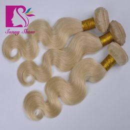 Wholesale Ali Queen - Ali Queen Virgin human blonde hair extension 7A brazilian peruvian indian malaysian european russian 613 remy hair weave body wave 3 bundles