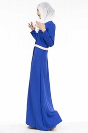 Wholesale Wholesale Muslim Clothing - Korean fashion long-sleeved linen dress long section Middle East Arab Muslim Malay dress 2016 spring and summer women's clothing 603#