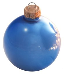 Wholesale Event Party Bauble Ornaments Christmas Xmas Tree Glass Balls Decoration mm Delft Blue Ball Ornament Pearl