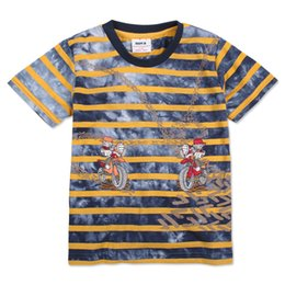 Wholesale Clothes For Carton Kids - 2014 hot sale nova kids childrend clothing striped and carton cotton short sleeve spring summer t shirt for baby boys C2505#