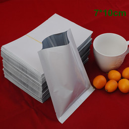 "Wholesale White Aluminum Foil - 7*10cm (2.8*3.9"") Top Opened White Aluminum Foil Bag Mylar Heat Seal Food Storage Packing Bag Plastic Vacuum Pouch For Coffee Sugar Package"