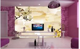 Foto di fiori astratti online-Carta da parati fotografica personalizzata Grande divano 3D TV sfondo wallpaper murale muro Abstract flower 3d murale carta da parati 201515751