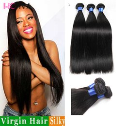 Wholesale Remy Hair Sold Bundles - HCDIV 2017 Hot Selling Remy Straight Hair 3 Bundles Virgin Human Hair Extensions Cheaper Straight Human Hair Bundles Double Weft Thick