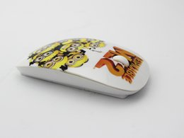 Wholesale Cheap Thin Laptops - Wholesale-New Free Shipping 2.4Ghz Optical Ultra Thin Mouse Despicable Me Wireless Mouse Minions Cheap Mice for laptop pc computer mouse