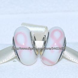 Wholesale Murano Ribbons - 5pcs 925 Sterling Silver Thread Ribbon Murano Glass Bead Fits European Pandora Jewelry Charm Bracelets Necklaces & Pendants MU365