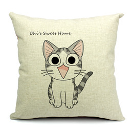 Wholesale Cushion Covers 18 - Lovely Cat Chi's Sweet Home Angry Chi's Throw Pillow Case Decor Cushion Covers Square 18*18 Inch