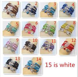Wholesale Harry Potter Leather Bracelets - 15 color to chosoe Multilayer Braided Bracelets Vintage Owl Harry Potter wings infinity bracelet, Multicolor woven leather bracelet & Bangle
