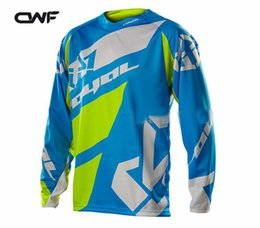 Wholesale Riding Shirt Motorcycle - 2017 New Jersey Downhill Jersey MTB Off Road Long Motorcycle Long Motocross Racing Riding Cycling Jersey Long T-shirt