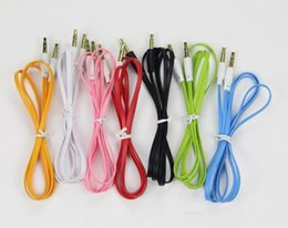 Wholesale Iphone Cord For Car - Noodle audio aux cable 3.5mm Auxillary Music Car Male To Male Extension Cord Audio Stereo 3.5mm For Mp3 Player For Iphone sumsung