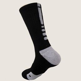 Wholesale Striped Terry Socks - New athletic summer style 2015 Men socks elite socks men long running sock terry basketball socks prince men sport