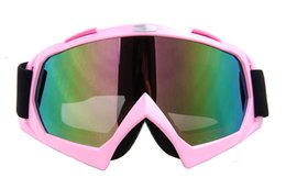 Wholesale Downhill Glass - Outdoor Windproof Goggles Ski Goggles Dustproof Snow Glasses Motocross Off-Road Downhill Eyewear T815-7 for Women Lenses Material:Polyuretha