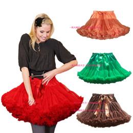 Wholesale Teen Skirts - Teen Adult Girls Pettiskirt Womens Solid Color Mini Party TuTu Skirts White Sexier Short Skirt Free Shipping Retail 1 PCS