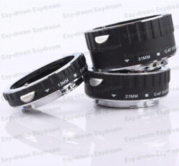 Wholesale Ef Macro - Metal Copper Electronic AF TTL Auto Focus Macro Extension Ring Tube For Canon EOS 650D 700D 70D 5D3 6D 1DX 7DII EF