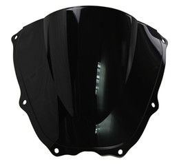 Wholesale Rc51 Sp2 - Motorcycle Double Bubble Windshield WindScreen For 2000-2006 Honda RVT1000R VTR1000 SP1 SP2 RC51 01 02 03 04 05 06 2005 Black