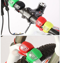 Wholesale Silicone Led Light Set - Silicone Bike Bicycle Cycling Head Front Rear Wheel LED Flash Light Lamp