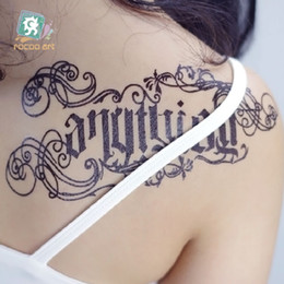 Wholesale Temporary Tattoos Stickers Words - 21*10cm Temporary fake tattoos Waterproof tattoo stickers body art Painting for party decoration etc mixed mysterious words