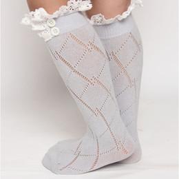 Wholesale Grey Winter Leggings - girl winter legging girl winter stockings grey lace ruffle long sock children's girl boot acessory sock