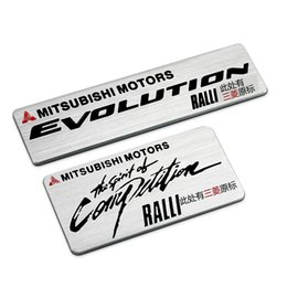 Wholesale Car Sticker For Mitsubishi - Top Quality Aluminium Stickers Car Logo Auto Emblem Badge For Mitsubishi Motors Ralliart RALLI-ART Decal Free Shipping
