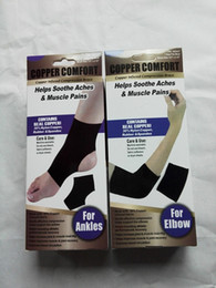 Wholesale Band Braces - 100pcs Copper Fiber Comfort Ankle Support Protector Band Elastic Brace Ankle Protector Sports Safety Sock Stretched Ankle Support