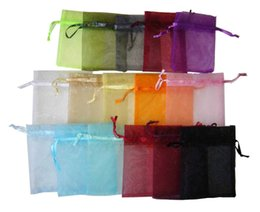 Wholesale Bamboo Tulle - Wholesale- Casamento Bolsas Tulle Organza Jewelry Bags10*15 Wedding Favors And Gifts Package For Guests Party Supplies 25pcs lot