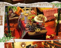 toy cabin prices - DIY Cabin Reya time creative birthday New Year Christmas children's Day gift building model assemble toy ornaments