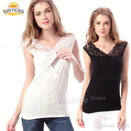 Wholesale Breastfeeding Tops L - Maternity Shirt Breastfeeding Top Undershirt Sexy Camis Sleeveless Dresses For Pregnant Womens Modal Tank Tops Nursing Clothes