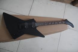 Wholesale diamond guitar - Wholesale- 2015 New Brand Customized Matte Black Unusual Shape Electric Guitar with the Diamond Parrern Body