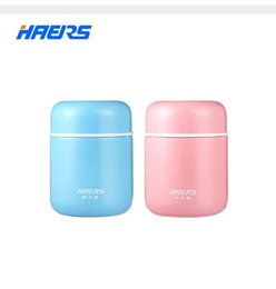 Wholesale Thermal Food Lunch Box - Haers Candy Color Food Soup Thermos BPA-free Stainless Steel Vacuum Thermos Lunch Box for Kids 280ml 400ml