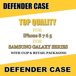 Wholesale iphone phone belt clips - Hot Defender Series Case for iPhone 8 7 Multi-Layer Full Covered with Belt Clip Phone Shell for Samsung Note8 S8 Plus with Retail Package