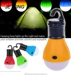 Wholesale Low Energy Lamps - Outdoor LED Camping Lamp Tent Night Light Bulb ABS Energy-saving Low Heat Camping Lantern Light 3 x AAA Battery Tent Lamp B