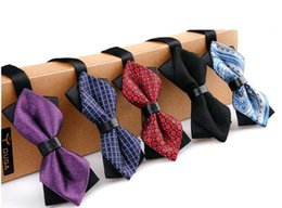 Wholesale Wholesale Ties Bowties - NEW Fashion Arrival Vintage Male mixed color Wedding Bowties Men's Ties Men's Bow ties Men's Ties Many Style Dress Bowtie Groom bowtie R17