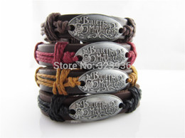 Wholesale Bullet Leather Bracelet - Wholesale-Free Shipping Hot Sale 2pcs Fashion Men Jewelry Bracelets & Bangles Charm Bracelet Bullet For My Valentine Leather Bracelets