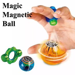Wholesale Pop Lamp - Magic Magnetic Ball magneto sphere Finger toys Fingertip decompression pop flash lamp colorful pressure relief artifact DHL Shipping