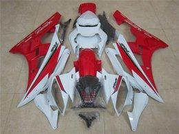 Wholesale Glossy White Yamaha - 4 Gifts New Injection mold ABS Fairing kit for YAMAHA YZFR6 06 07 YZF R6 2006 2007 YZF600 yzfr6 06 Fairings set glossy red white