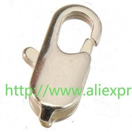Wholesale Clasps For Jewelry Making - 100pcs new fashion jewelry findings and components small sterling silver water drop lobster clasps for jewelry making toggles hooks 8*5mm