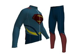 Spedizione gratuita, pantaloncini da ciclista a maniche lunghe per ragazzi in maglia Super Hero per ragazzo, abbigliamento invernale in pile per bambini taglia XS-XL da