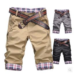 Calça Casual Masculina de Lazer Curta, Calça de Verão Masculina cropped pants Tamanho: M L XL XXL XXXL de