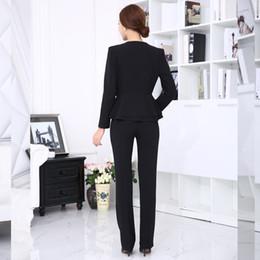 Wholesale womens work suits - Wholesale-Women Office Pant Suit 2016 Autumn Winter Womens Business Suits Formal Office Work Elegant Ladies Pants Sets M XL XXL XXXL