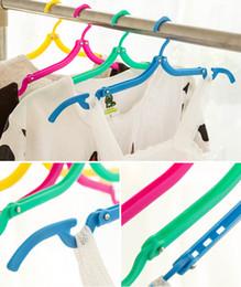 outil de pliage de vêtements Promotion Voyage En Plein Air Outils Portable Pliant Cuttle Vêtements Portable Cintre Rack Bonne Qualité Nouvelle Livraison Gratuite