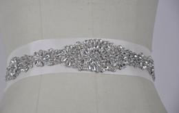 блесток из бисера Скидка Потрясающий свадебный пояс со стразами.