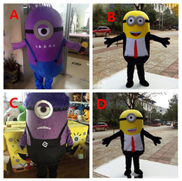 Wholesale Hot Minion Costume - 2016 Hot New Arrival New special Minions Mascot Costume one eye new adults size ZJ1389